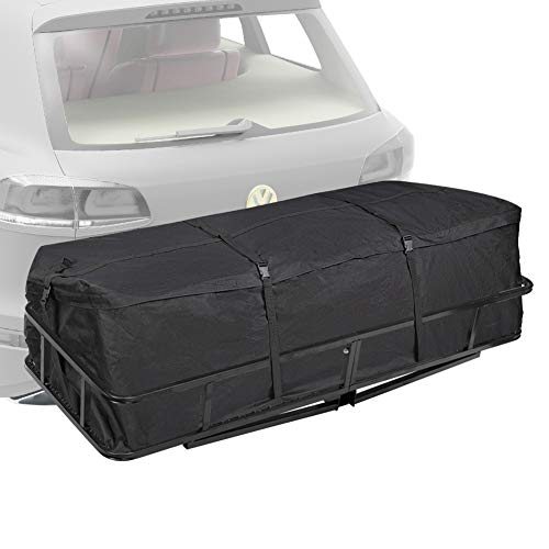 Trailer Hitch Cargo Carrier Bag - (10 Cubic Feet) Hitch Tray Cargo Carrier Bag for Vehicle Car Truck SUV Vans, Luggage Storage Bag for Hitch Racks, 1 Year Warranty