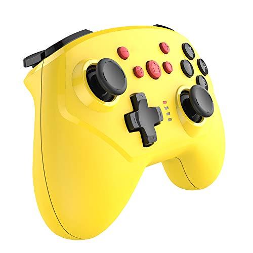 THDFV Manette de Jeu Bluetooth sans Fil,Joystick Gamepad avec Six-Vibration,Prend en Charge câblé,Compatible avec Les Jeux Populaires tels Que Switch,adapté aux Ordinateurs Portables PC TV-Yellowelf