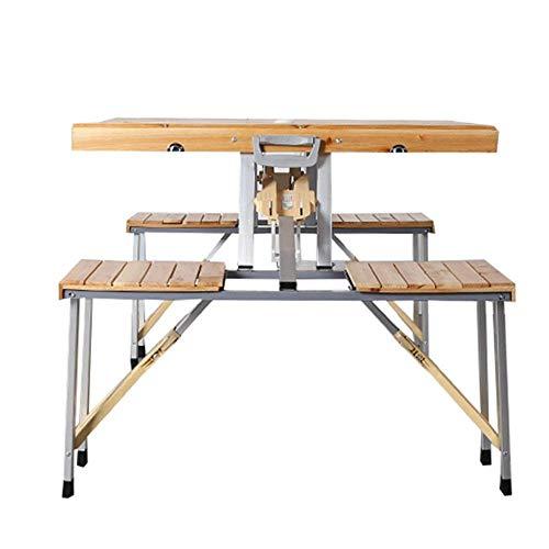 N/Z Daily Equipment Desk Klapptisch/Siamesische Klapptische und Stühle/Tragbarer Komforttisch aus Aluminiumlegierung/Multifunktionaler Esstisch im Freien