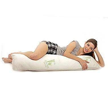 Aloe 99 Hypoallergenic Aloe Vera Bamboo Memory Foam Full Body Pillow for Adults