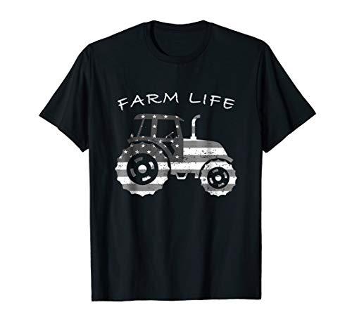 Tractor Farm Life Shirt Farmer Mens Womens Boys Girls