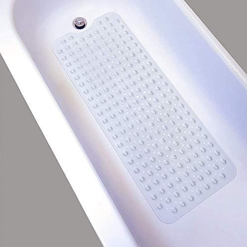 Nifogo Duschmatte badewannenmatte Antirutschmatte Badewanne Rutschmatte Anti Rutsch Matte Extra Lange Bad Saugnapf Schimmel Waschmaschinenfest 100 x 40cm(Farblos