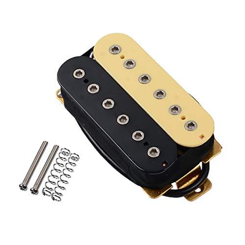 chiwanji Guitarra Eléctrica de Metal con Doble Bobina, Mástil/Puente, Herramientas Luthier Amarillas...