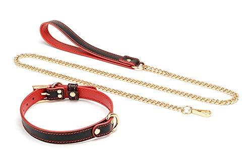 Leather Choker Collar, Ḁdûlt Töyš,Ḅḁňdḁgè Cöllḁr Leḁsh Ṥèx Ṥlḁvè Nècklḁcè ḄṤDḾ Ḅûcklèd Chökèr for Wömēn Gḁg Fētîšh
