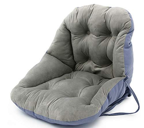 EEKUY kinderstoel stoelhoezen kussen, kantoor zittende taille rug kussen stoel kussen, wasbaar 48 * 48 * 42Cm