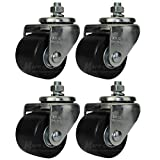 Mapp Caster Heavy Duty Car Dolly Replacement Casters Set of 4-2500 Lbs. Capacity