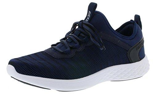 Rieker B9753 Herren Sneaker, Schnürschuhe, Halbschuhe, Schnürer mit Eva Sohle blau (Ozean-schwarz/Ozean / 14), EU 43