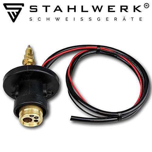 STAHLWERK MIG MAG Eurozentralanschluss Geräteanschluss Umbauset, rund, für MIG MAG Schutzgasschweißgeräte inkl. Frontabdeckung