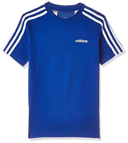 adidas Jungen Essentials 3-Streifen T-shirt, Collegiate Royal/White, 128