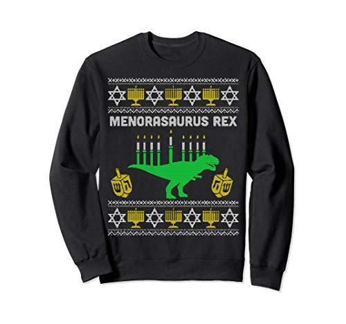 Menorasaurus Rex Sweatshirt Kids Hanukkah Funny Jewish Gifts Sweatshirt