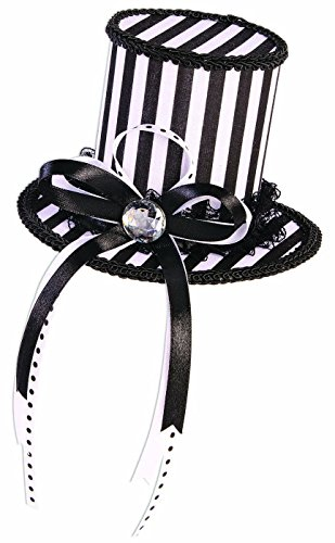 Forum Novelties Men's Mystery Circus-Mini Top Hat-Black, White, Standard