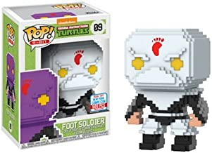 2017 NYCC Exclusive Pop! - 8-Bit: TMNT Foot Soldier (White) with NYCC Sticker