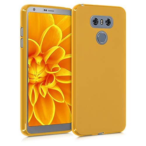 kwmobile Carcasa para LG G6 - Funda para móvil en TPU Silicona - Protector Trasero en Amarillo Miel