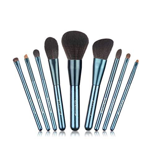 LHY- 9 Jeux de Maquillage avec Jeu débutant Main rafraîchissant Long Manche Brosse lâche Brosse Ombre à paupières Blush Pinceau Poudre Mode