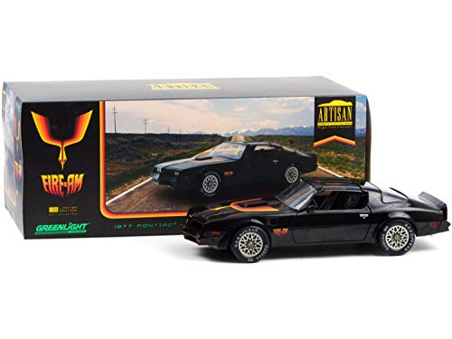 1977 Pontiac Firebird Trans Am T/A Fire Am by Very Special Equipment (VSE) Black with Hood Bird 1/18 Diecast Model Car by Greenlight 19080