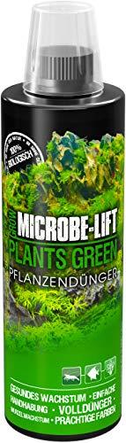 MICROBE-LIFT Plants Green - Pflanzendünger - wöchentlicher Volldünger mit Allen wichtigen Spurenelementen und Vitaminen, für prächtige und gesunde Aquarienpflanzen, 473ml