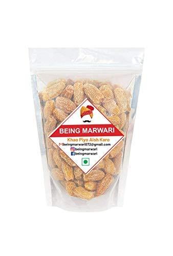 Being Marwari Pure Dry Dates- Yellow/Sukha Khajoor Premium Quality , 400g