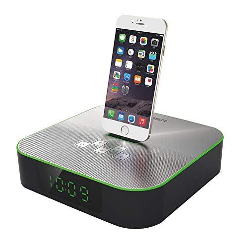 YXZQ Comodino Bluetooth Allarme FM Radiosveglia Ricarica Lightning Dock per iPhone 7 / 7Plus 6 / 6Plus 5 / SE Caricabatterie, Verde