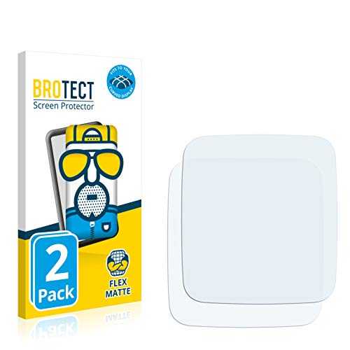 BROTECT Full-Cover Schutzfolie Matt kompatibel mit Pebble Time 2 (2 Stück) - Full-Screen Bildschirmschutz-Folie, 3D Curved, Anti-Reflex