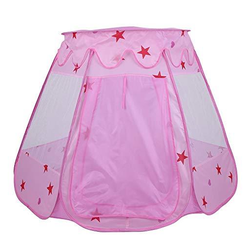 Speeltent voor kinderen, 1PCS Draagbaar opvouwbaar speelhuis Buiten- en binnenspeeltent Speeltent voor kinderen Speeltent voor kinderen voor jongens, meisjes, baby's, peuters Verjaardagscadeau(Roze)