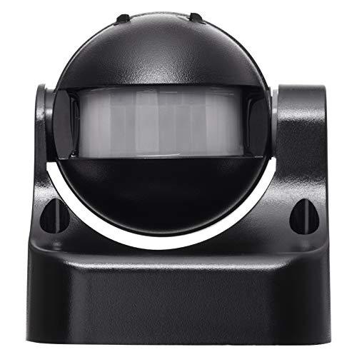 EMOS G1125 Infrarot-Bewegungsmelder IP44 für Außen, 12m Reichweite, 180 Grad Detenktionsbereich, schwarz