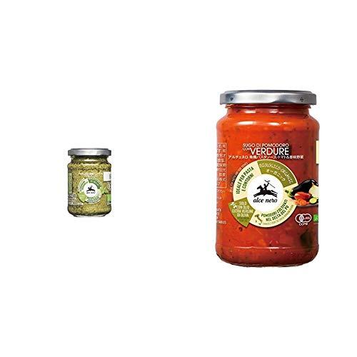 【セット買い】ALCE NERO(アルチェネロ)有機ジェノベーゼ・バジル・ペースト 130g & NERO(アルチェネロ)有機パスタソース・トマト&香味野菜 350g