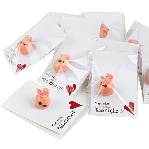 Logbuch-Verlag 10 kleine Glücksschweinchen Schweine Glücksbringer Weihnachten Geschenk Kollegen Mitarbeiter Kinder Silvester Neujahr Glück