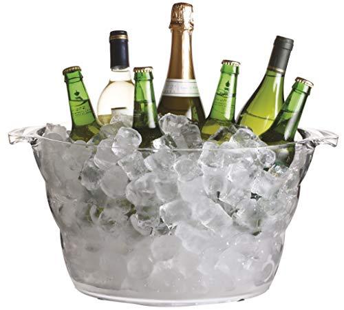 BarCraft Großer Getränkekühler/Bierkübel, Acrylglas, Transparent, 10 Liter