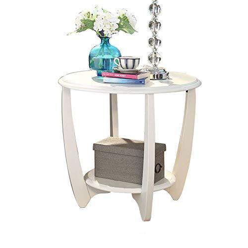 ZXL salontafel, bijzettafel, salontafel, bijzettafel, nachtkastje, nachtkastje, make-uptafel, eettafel, bijzettafel van hout, 600 – 585 mm, meubels (kleur: bruin, afmetingen: