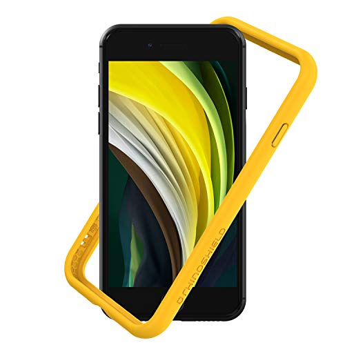RhinoShield Bumper compatible with [iPhone SE2 / SE (2020) / 8/7] | CrashGuard NX - Shock Absorbent Slim Design Protective Cover [3.5M / 11ft Drop Protection] - Yellow