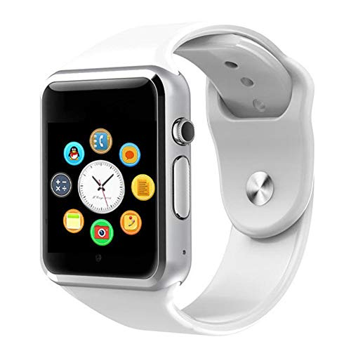 Domybest Smartwatch, bluetooth, touchscreen, 2 MP, camera, stappenteller, smartwatch, ondersteunt TF-simkaart, Wit.