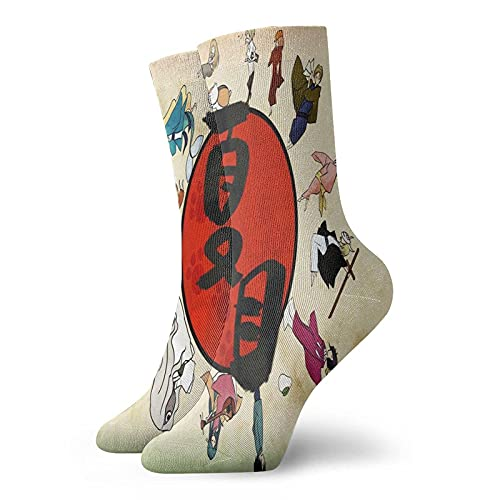 Natsume 's Book of Friends Atmungsaktive Söckchen Lustige Laufsocken Teenager Cooles Design Crew Socken - Calcetines unisex