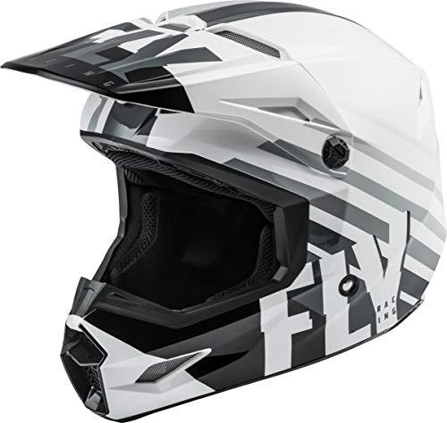 FLY Racing Kinetic Thrive Helmet, Full-Face Helmet for Motocross, Off-Road, ATV, UTV, Bicycle and More (White/Black/Grey, Large)