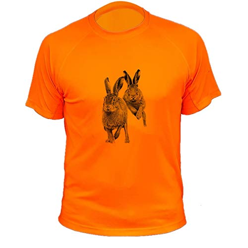 Lapin T-Shirt, Jagd, Herren Gr. L, Orange