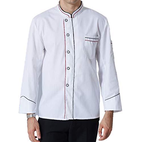 DNJKH Chef Cocina Uniforme, Respirable Chaqueta Cocinero, Secado Rápido Restaurante Casaca