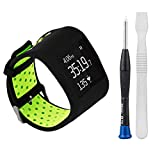 Compatiable with Fitbit Surge Watchband, Shyshining Double Color Silicone Rubber Band Protective Cover with Strap Sports Case Frame for Fitbit Surge Fitness Smart Watch (Black-Yellow)