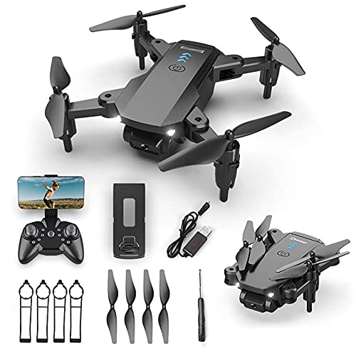 Drone pieghevole con fotocamera per adulti 4K HD FPV Live Video, controllo dei gesti, selfie, mantenimento dell'altitudine, modalità senza testa, capovolgimenti 3D, quadricottero per bambini principi