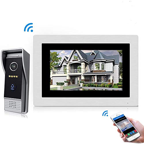 Jeatone 7 Zoll Wired Wifi IP-Video-Türsprechanlage Türklingel Intercom-Entry-System mit 1200TVL Wired Kamera Nachtsicht Unterstützung Remote Entriegelung Aufnahme Snapshot für Villa