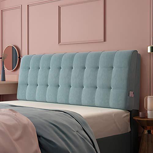 Almohadas de Lectura y Reposo en Cama, Soporte de posicionamiento del Respaldo, Cierre la Brecha Entre su colchón y la cabecera (Color : Blue-A, Size : 150cm x 60cm (4.9ft x 1.9ft))