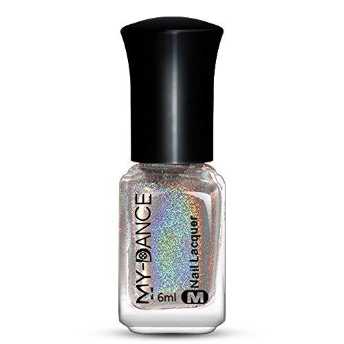 JUTOO Gel UV Ongle Nail Effect Nail Powder No Polish Foil Nails Art Glitter Silver