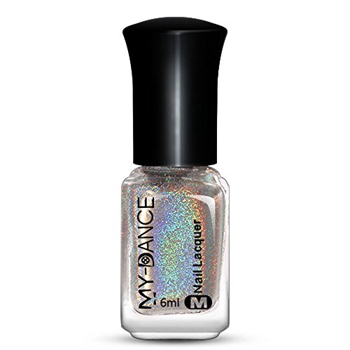 JUTOO Gel UV Ongle Nail Effect Nail Powder No Polish Foil Nails Art Glitter Silver
