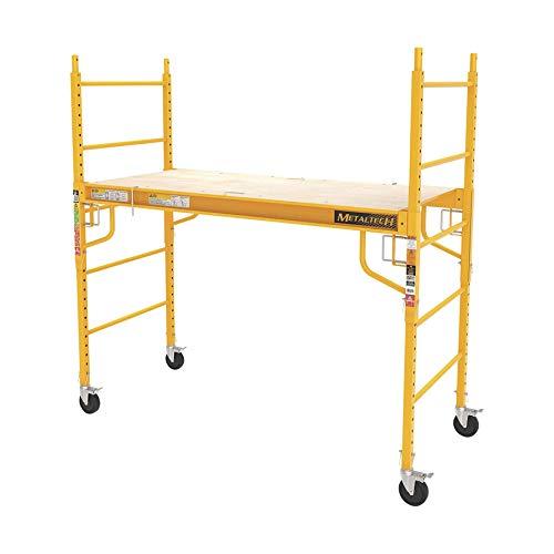 Metaltech I-CISC Multipurpose 6'. Baker-Style Scaffold-1, 000-Lb. Capacity, Steel, Model#, 1, Yellow