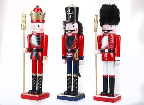 Toyland® Ornement de Soldat de Casse-Noisette en Bois Peint de 15 po (38 cm) - Décorations de Noël Traditionnelles - 1 choisie au Hasard