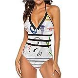 Adorise - Juego de trajes de baño con diseño de lunares vibrantes, a la moda, sexy Multi 03 XL