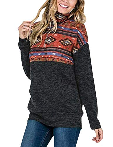 Lover-Beauty Suéter Mujer Casual Manga Larga con Cremallera Suéter Flores Mujer Suéter para Navidad Canrval Fiesta Camiseta Mujer Invierno Suéter Mujer con Capucha Naranja