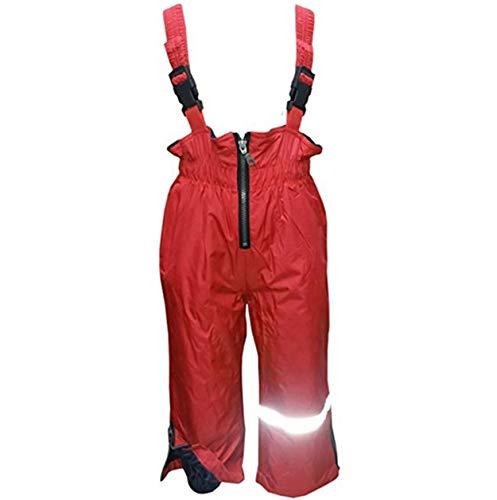 alles-meine.de GmbH Outburst - warme - Regenhose / Matschhose / Skihose / Latzhose - Größe 80 - verschweiße Nähte - 10.000 mm Wassersäule - Fleecefutter wasserundurchlässig - rot..