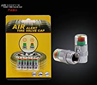 YangYang オートアクセサリー タイヤ空気圧監視キャップ タイヤモニタリングキャップ 目に見える タイヤ空気圧警告装置 タイヤ空気圧検出器 タイヤ空気圧キャップ 4個セット