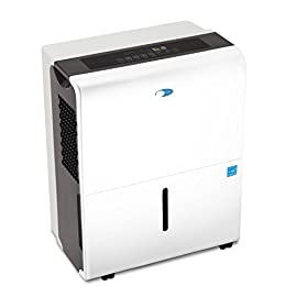 Whynter D Energy Star 30 Pint Portable Dehumidifiers-Elite Series, Multi 1 30 pint/14 liter capacity dehumidifier with 6 pint/2.83 liter removable water bucket including handles and caster wheels for portability Low temp operation (minimum ambient temperature low 40 Degrees), electronic controls with humidity sensor settings, fit for 35-85% relative humidity Auto-restart, auto-shutoff, 24-hour timer, dual fan speed, and auto-defrosting capability to prevent frost build-up inside unit