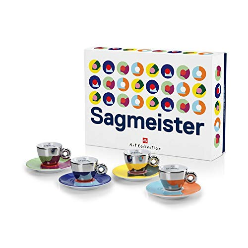 illy Art Collection Stefan Sagmeister - Juego de tazas de café (4 unidades)