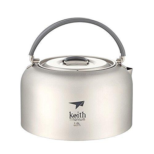 Keith 1Lケトルキャンプケトルチタンケトル屋外ケトル115グラム 1L